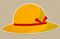 Beach hat isolated on background. Graphics designs vector illustration