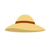Beach hat isolated icon. Illustration design Stock Image