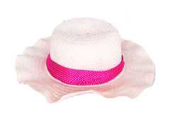 Beach hat isolated Stock Image