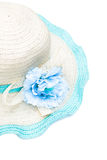 Beach hat isolated Royalty Free Stock Photos