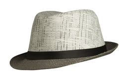 Beach hat isolated on white background .beach hat with brim.  royalty free stock photography