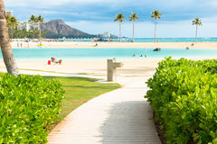 Beach on Hawaii island. Scenic view of pathway leading to beautiful beach on Hawaii Island Royalty Free Stock Photography