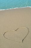 Beach Heart Royalty Free Stock Photo
