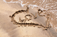 Beach Heart Royalty Free Stock Photography
