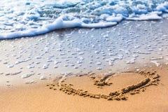 Beach Heart Stock Photos