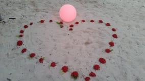 Beach hearth Royalty Free Stock Image
