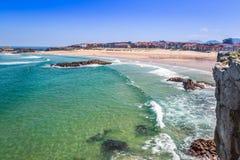 Beach of Helgueras, Noja, Cantabria, Spain Europe Stock Photography
