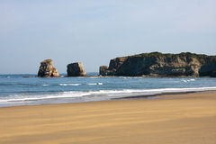 Beach hendaye, france Royalty Free Stock Photo