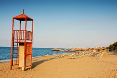 Beach in Heraklion, Crete, Greece Royalty Free Stock Image