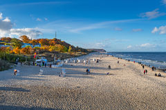 Beach at Heringsdorf Royalty Free Stock Photos