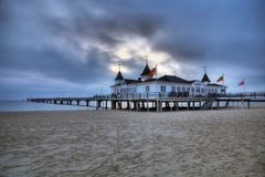 Beach in Heringsdorf, Usedom Island in Germany Stock Photo