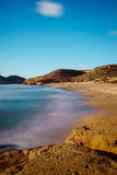 Beach of the Higuerica in Aguilas Stock Photo