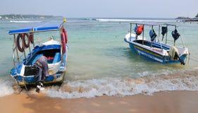 Beach in Hikkaduwa, Sri Lanka Royalty Free Stock Images