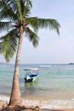 Beach in Hikkaduwa, Sri Lanka Royalty Free Stock Photography