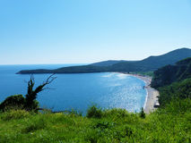 Beach. Between hills on the coastline of Monte Negro, Adriatic sea Royalty Free Stock Photos