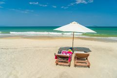 The beach in Hoi An. Vietnam royalty free stock photo