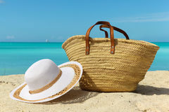 Beach holiday background Stock Images