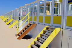 Beach holiday homes, North Sea, Netherlands Royalty Free Stock Images