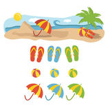 Beach  holiday illustration Royalty Free Stock Image