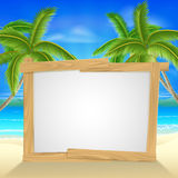 Beach holiday palm tree sign Royalty Free Stock Photos