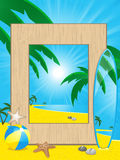 Beach holiday picutre frame Royalty Free Stock Photography
