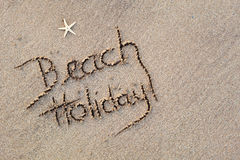 Beach Holiday in Sand Stock Photos