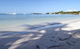 Beach holiday scenery. Panorama from the tropical Jamaica stock photo