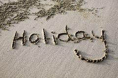 Beach Holiday Sign Royalty Free Stock Photo