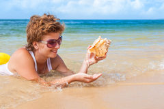 Beach holiday! Stock Photos