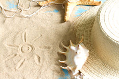 Beach holiday travel abstract background concept Stock Images