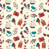 Beach holiday vector seamless pattern. Stock Images