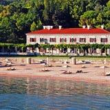 Beach holiday villa(Italy) stock image