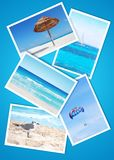 Beach holidays collage Royalty Free Stock Images