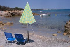 Beach Holidays. Liberotto beach cove in Sardinia Royalty Free Stock Image