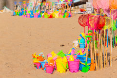 Beach Holidays Plastic Toys Royalty Free Stock Photography