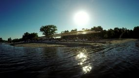 Beach holidays River stock video