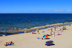 Beach holidays on the sandy shores of the Baltic Sea Royalty Free Stock Photos