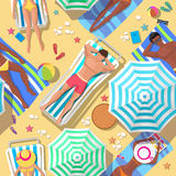 Beach holidays seamless background vector illustration