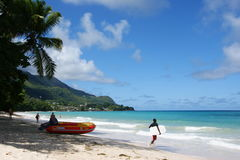 Beach holidays in the Seychelles Stock Photography