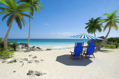 Beach holidays for two Stock Photography