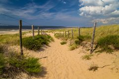 Beach in Holland. Sunny day on a beach in Holland stock photography