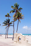 The Beach at Hollywood,Florida. A poular destination for local residents but strangely up to now not visited by my tourists. That situation will probably change royalty free stock photo