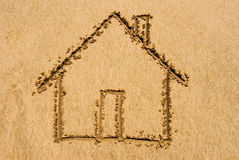 Beach Home Royalty Free Stock Photo