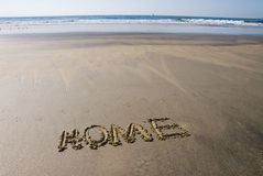 Beach home Royalty Free Stock Photography