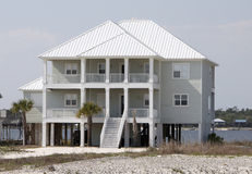 Beach Home Stock Image