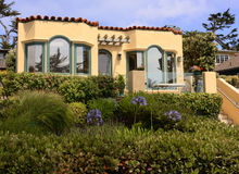 Beach home Carmel, California stock images