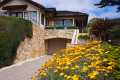 Beach home Carmel, California royalty free stock photo