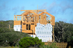 Beach Home Construction Royalty Free Stock Photos