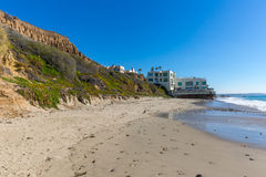 Beach Home, Malibu California. Beach home on Malibu Beach in Southern California Royalty Free Stock Photography