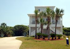 Beach home for sale Royalty Free Stock Image